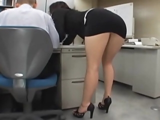 Japanese office girl gets..