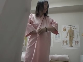 Horny Asian female stretches..