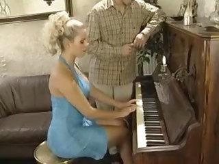 Piano teacher fucks girl..
