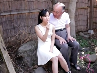 Japanese Teen with Old Man..