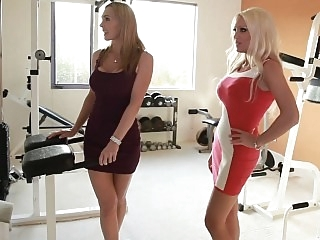 Two horny moms taking care..